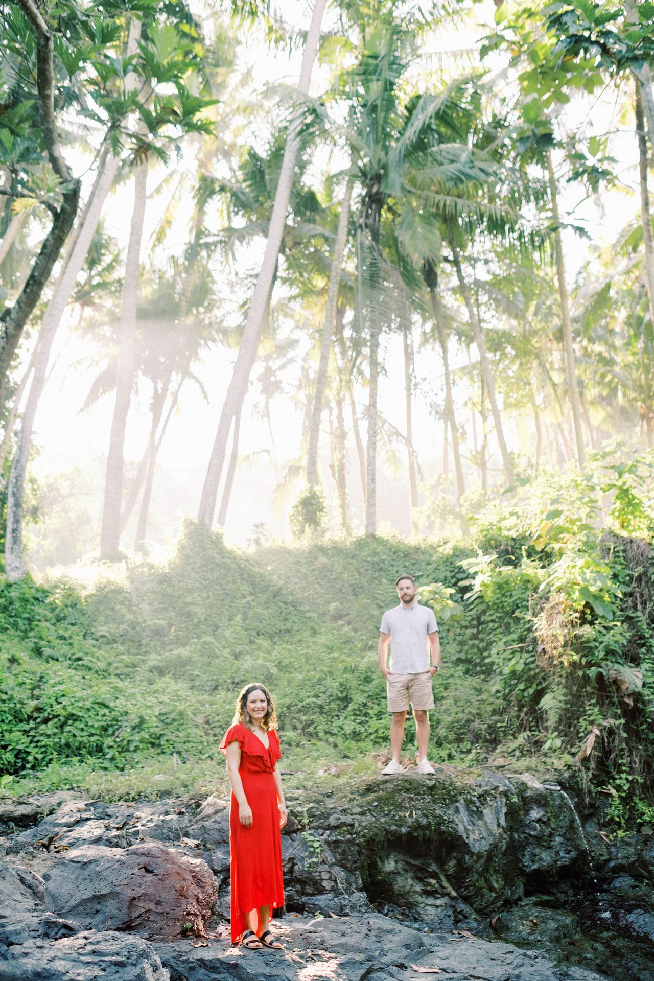 M&B: Stunning Bali Waterfall Engagement Photography 2