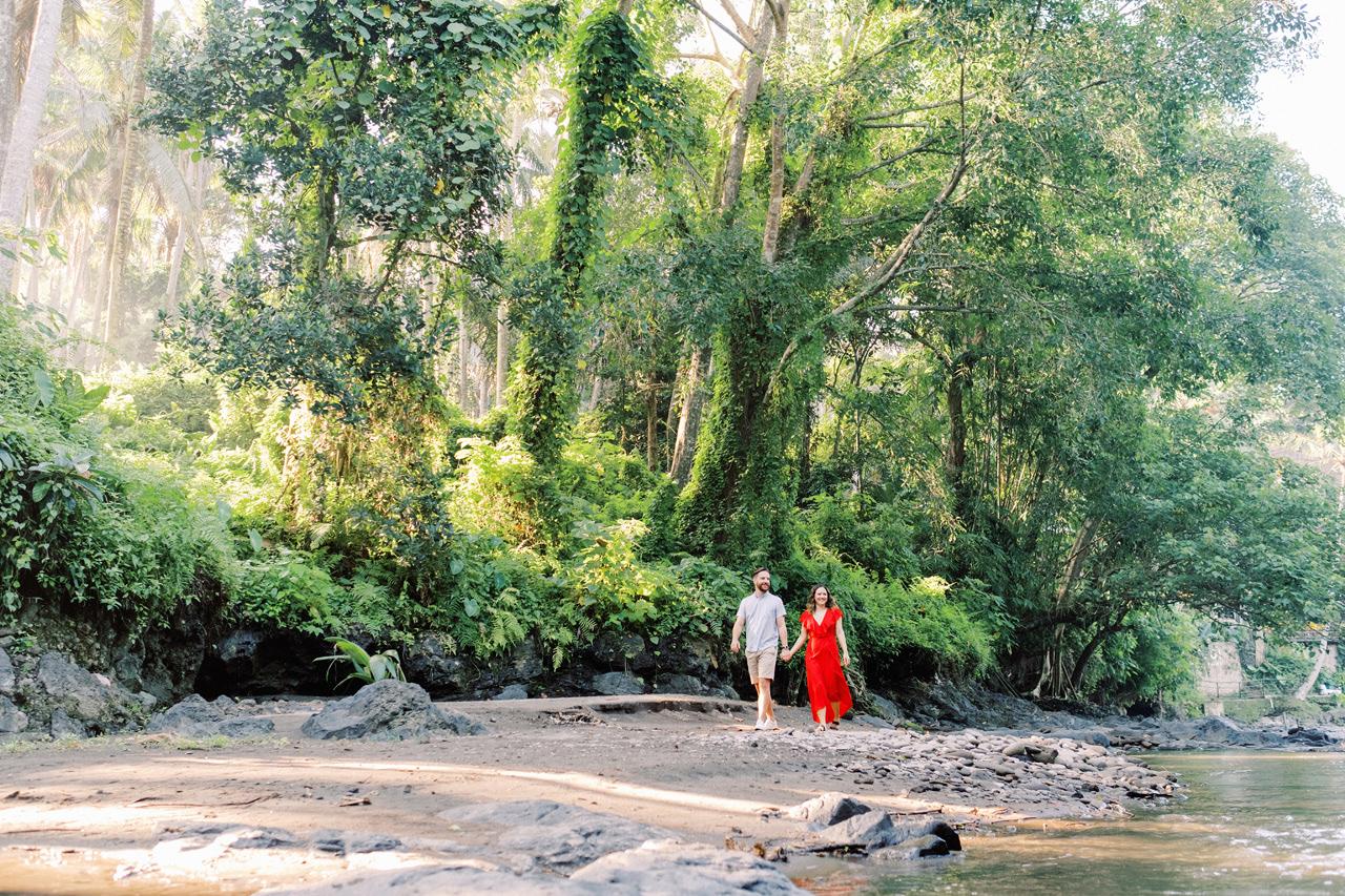M&B: Stunning Bali Waterfall Engagement Photography 3