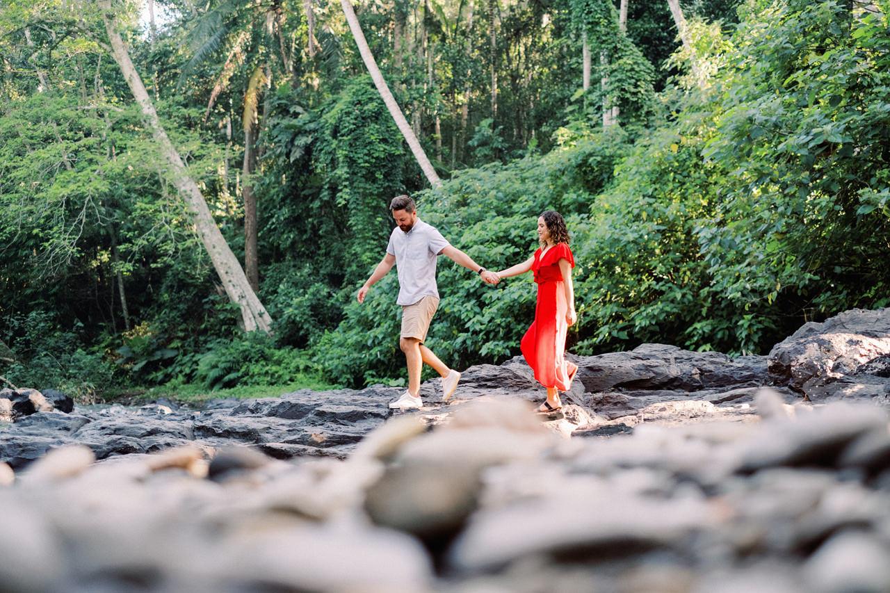 M&B: Stunning Bali Waterfall Engagement Photography 4