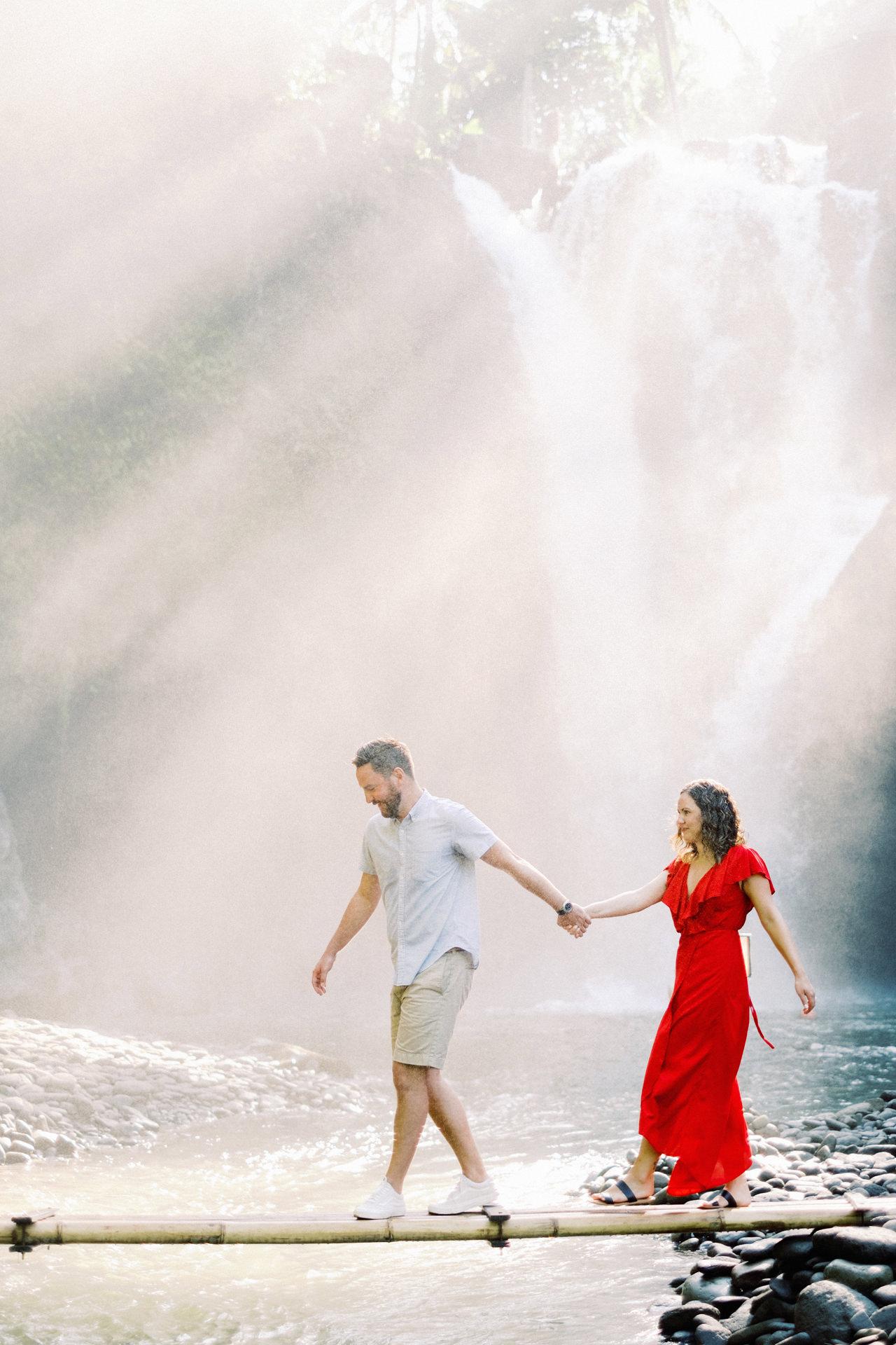 M&B: Stunning Bali Waterfall Engagement Photography 6