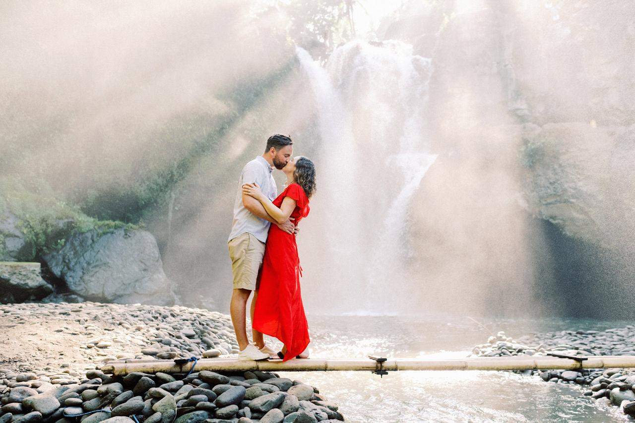 """M&B: Stunning Bali Waterfall Engagement Photography 7"""" width="""