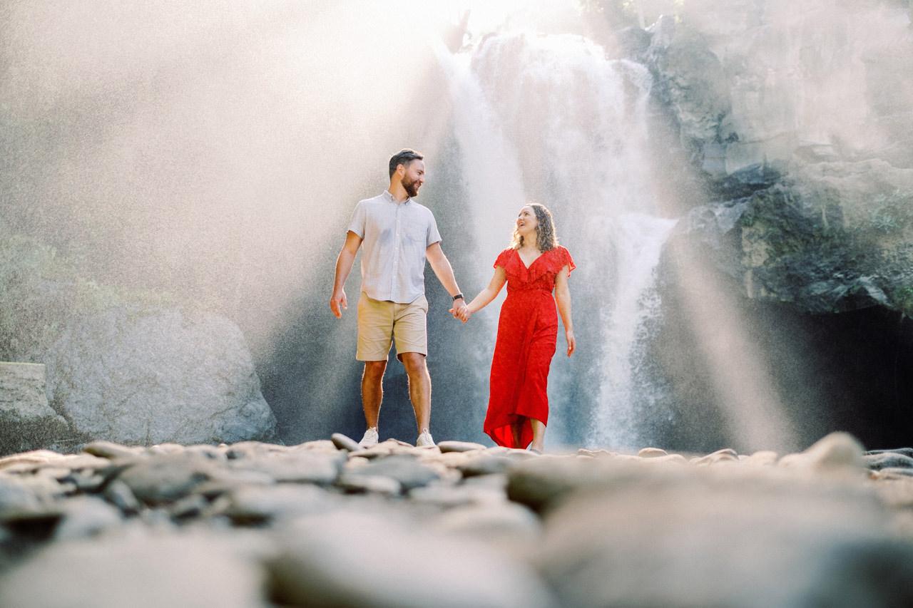 M&B: Stunning Bali Waterfall Engagement Photography 8