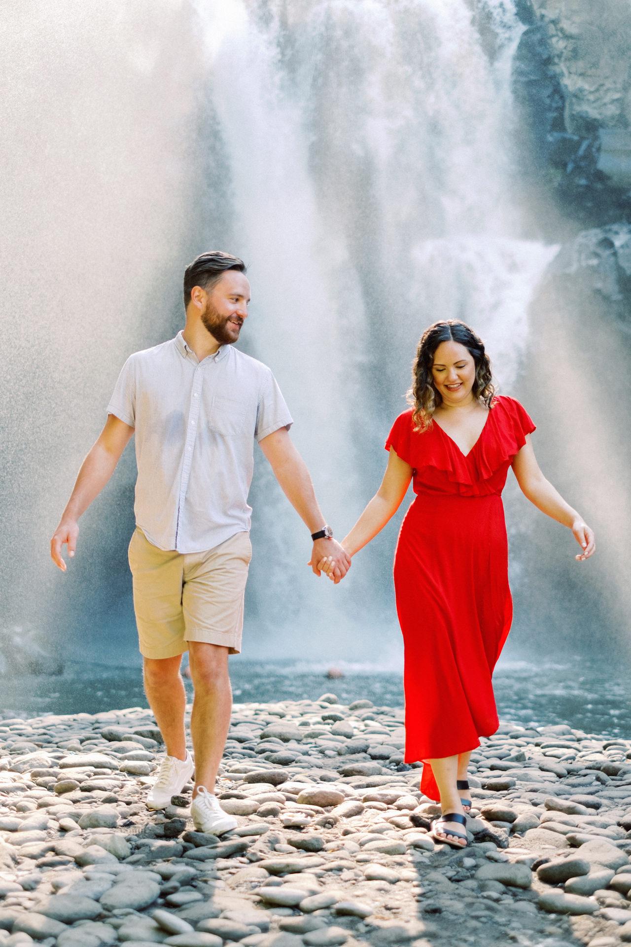 M&B: Stunning Bali Waterfall Engagement Photography 9