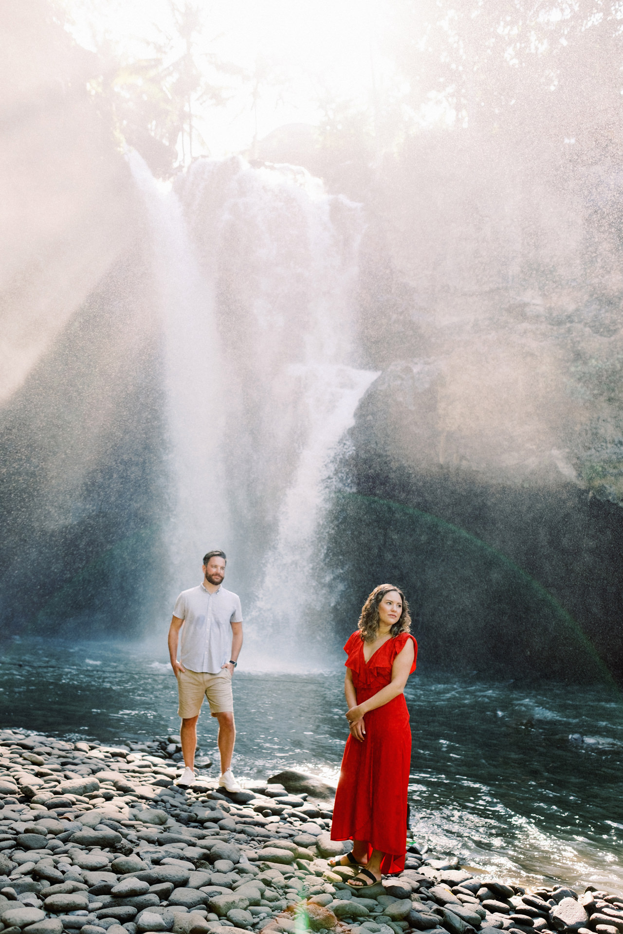 M&B: Stunning Bali Waterfall Engagement Photography 10