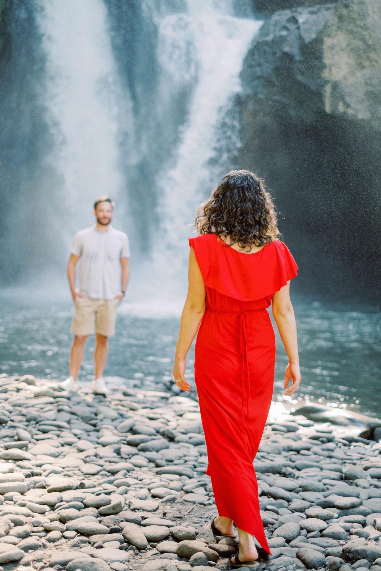 M&B: Stunning Bali Waterfall Engagement Photography 11