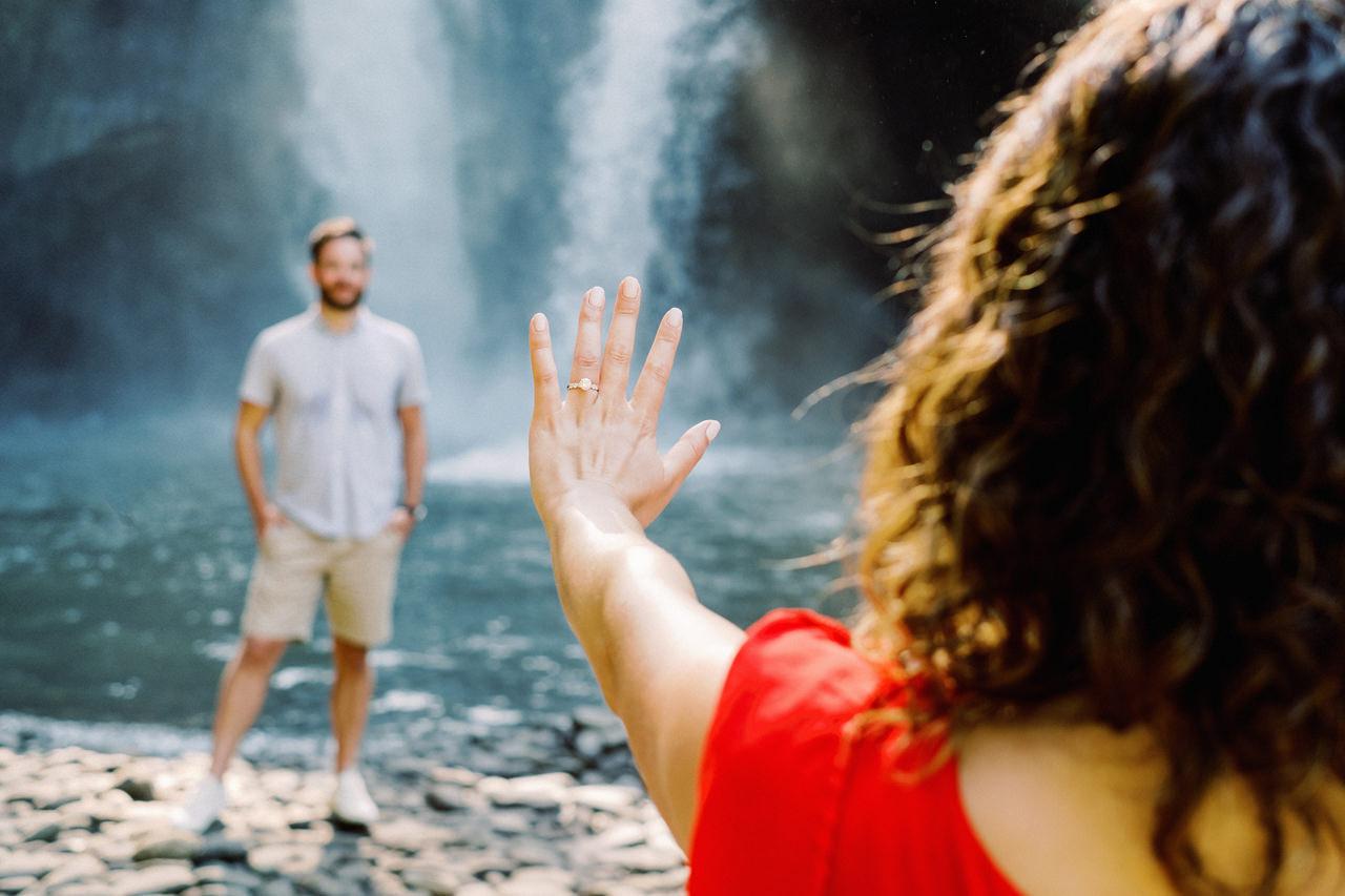 M&B: Stunning Bali Waterfall Engagement Photography 12