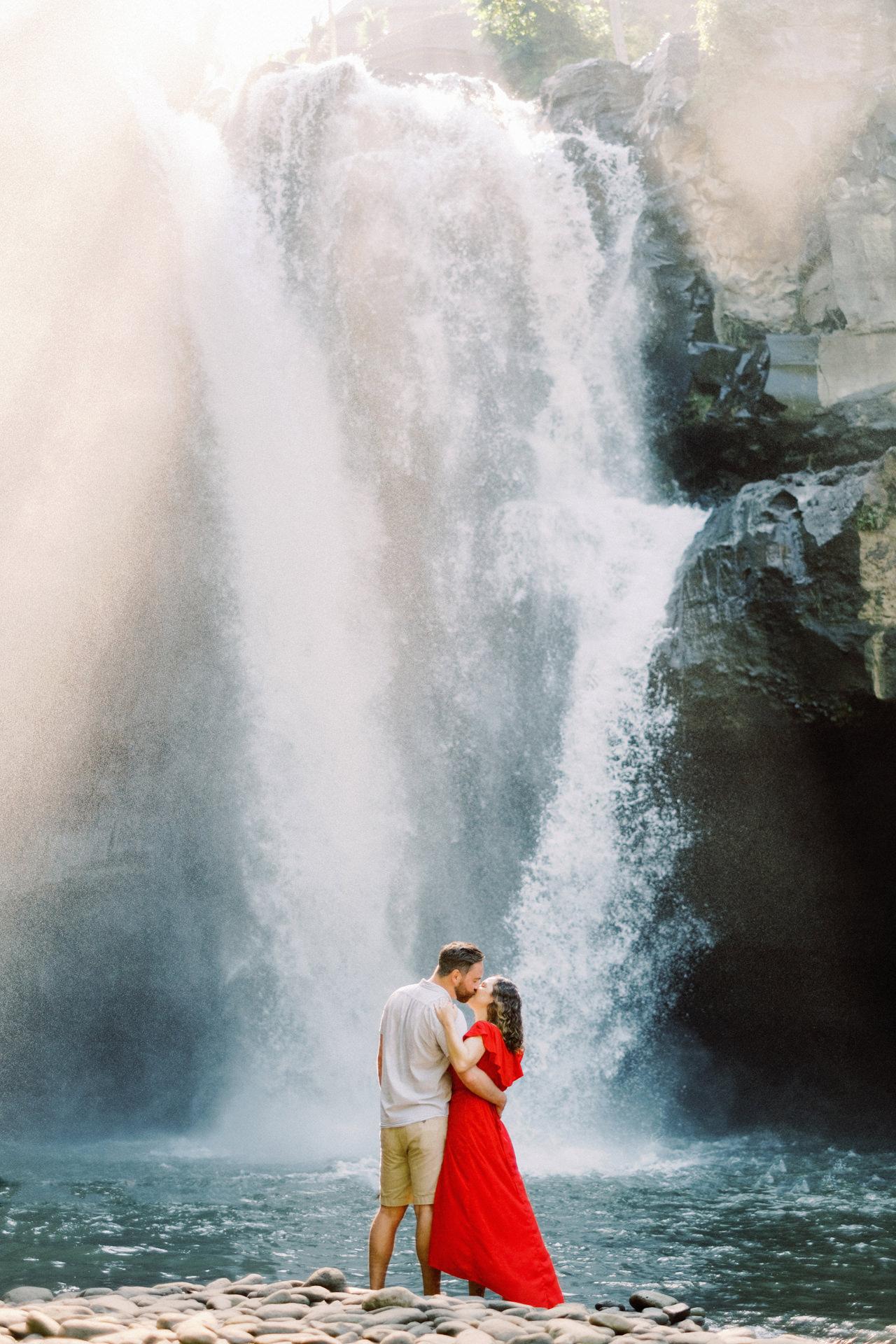 M&B: Stunning Bali Waterfall Engagement Photography 13