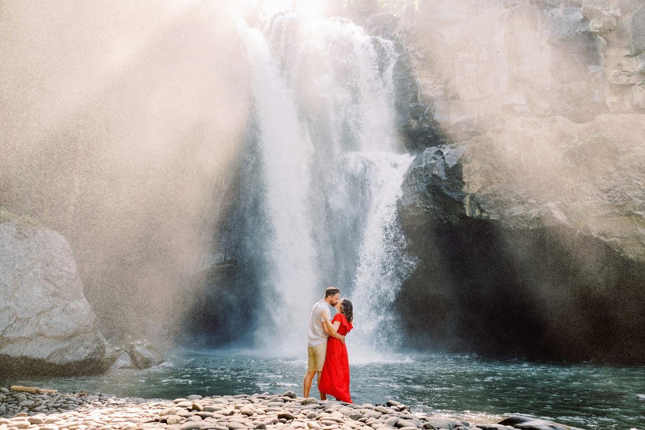 M&B: Stunning Bali Waterfall Engagement Photography 14