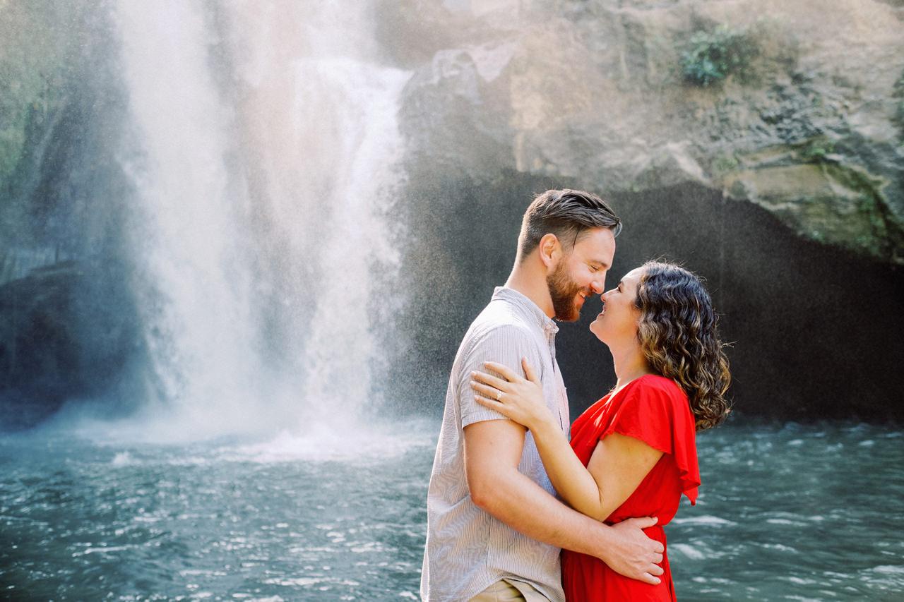 M&B: Stunning Bali Waterfall Engagement Photography 15