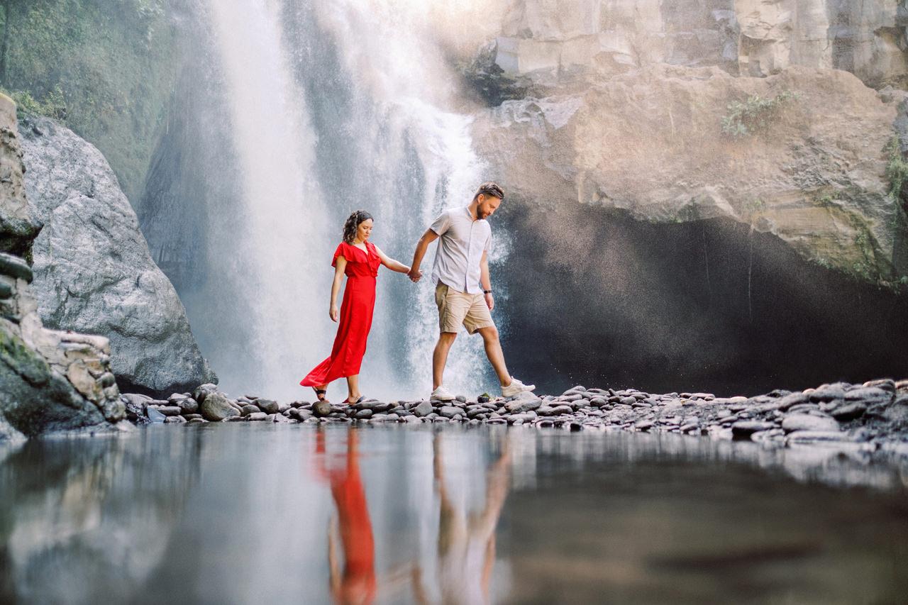 M&B: Stunning Bali Waterfall Engagement Photography 16