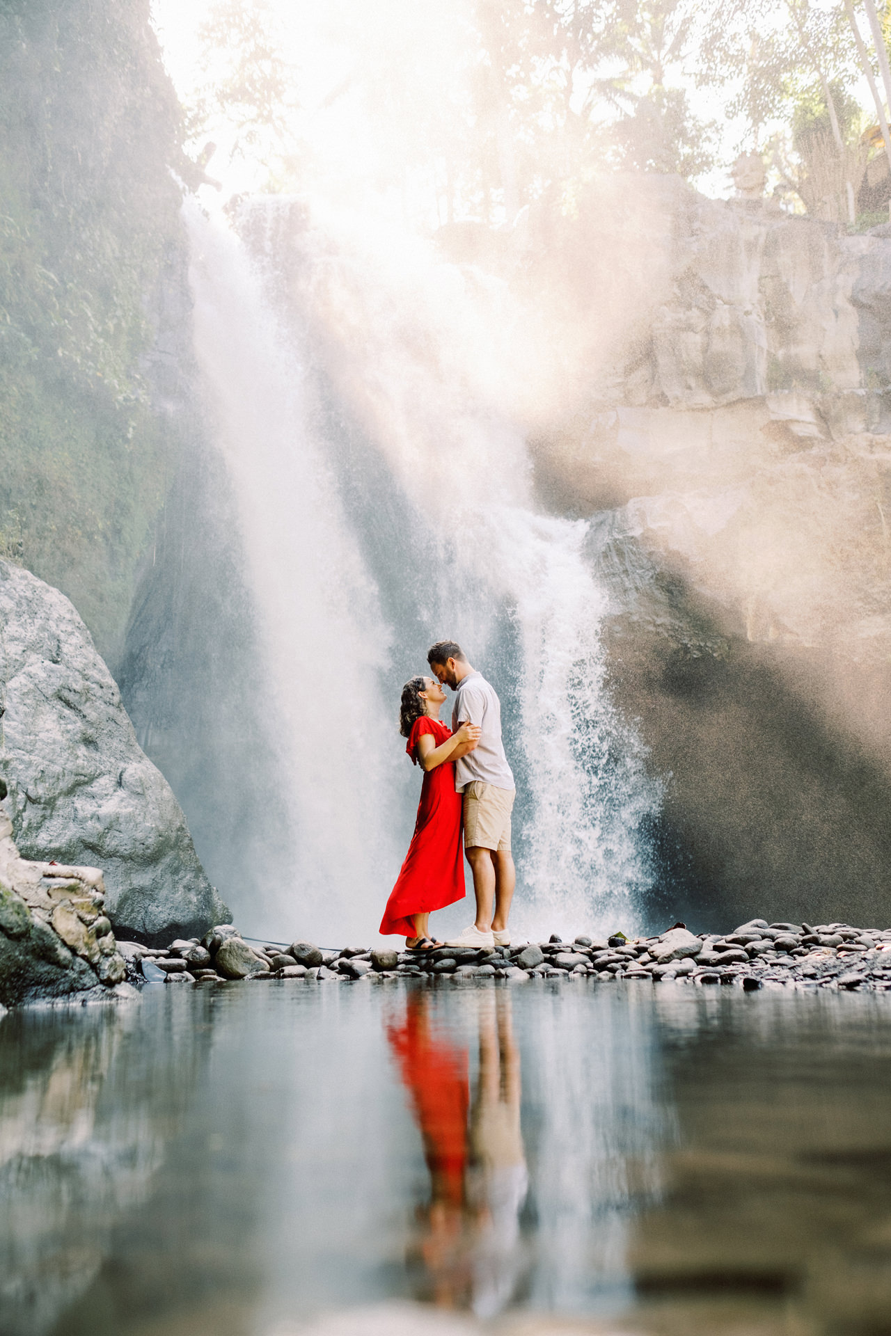M&B: Stunning Bali Waterfall Engagement Photography 17