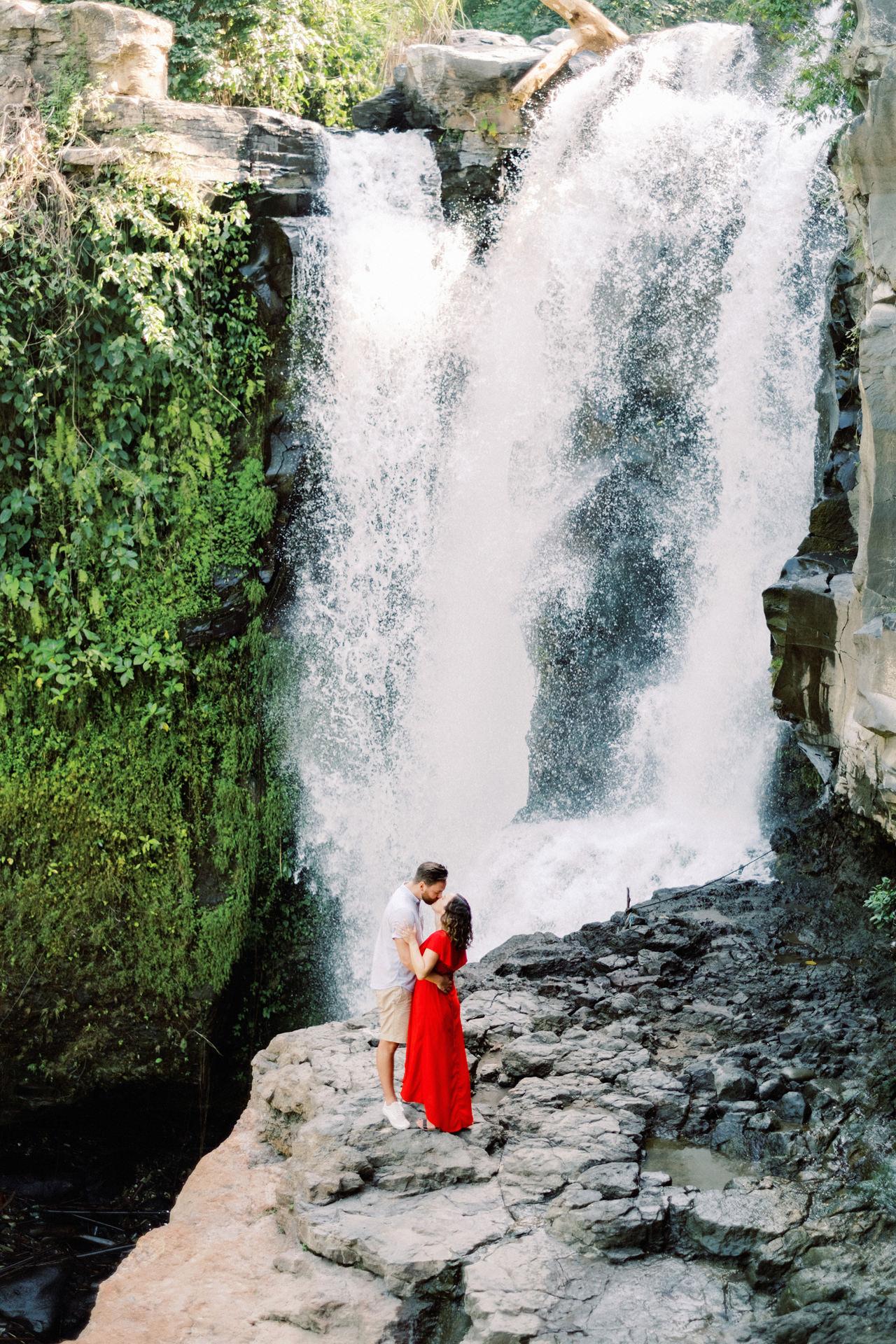 M&B: Stunning Bali Waterfall Engagement Photography 19