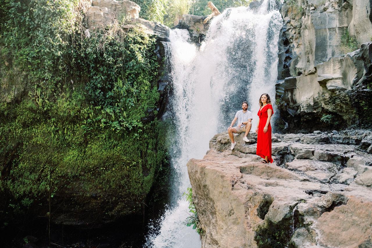 M&B: Stunning Bali Waterfall Engagement Photography 20
