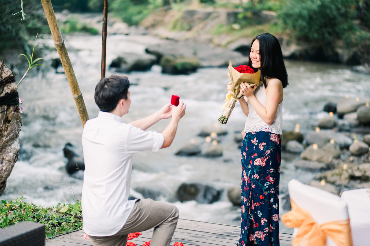 M&G: 100 Candles Surprise Proposal Dinner at Swept Away Restaurant Ubud 8
