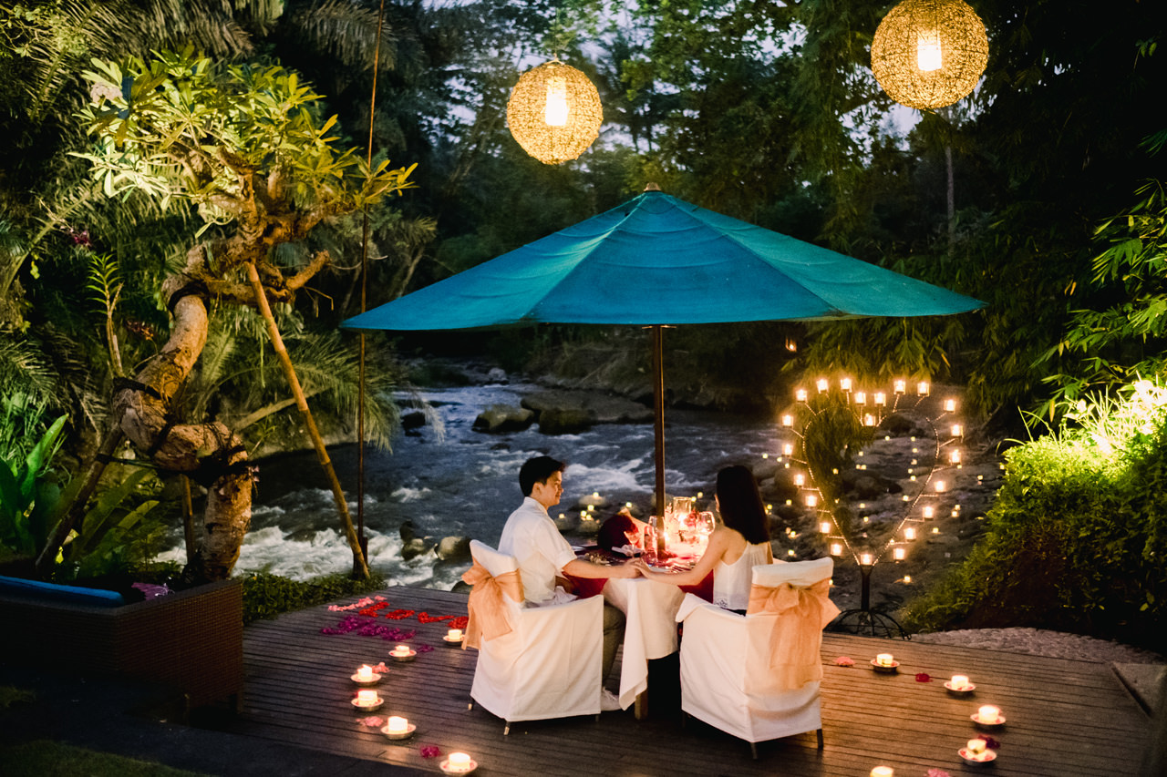 M&G: 100 Candles Surprise Proposal Dinner at Swept Away Restaurant Ubud 17