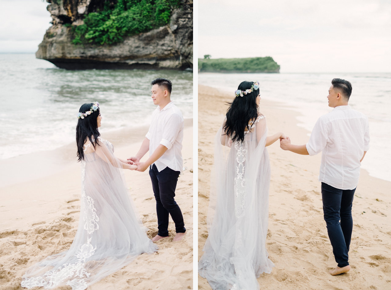 Romantic Beach Maternity Shoot in Bali 4