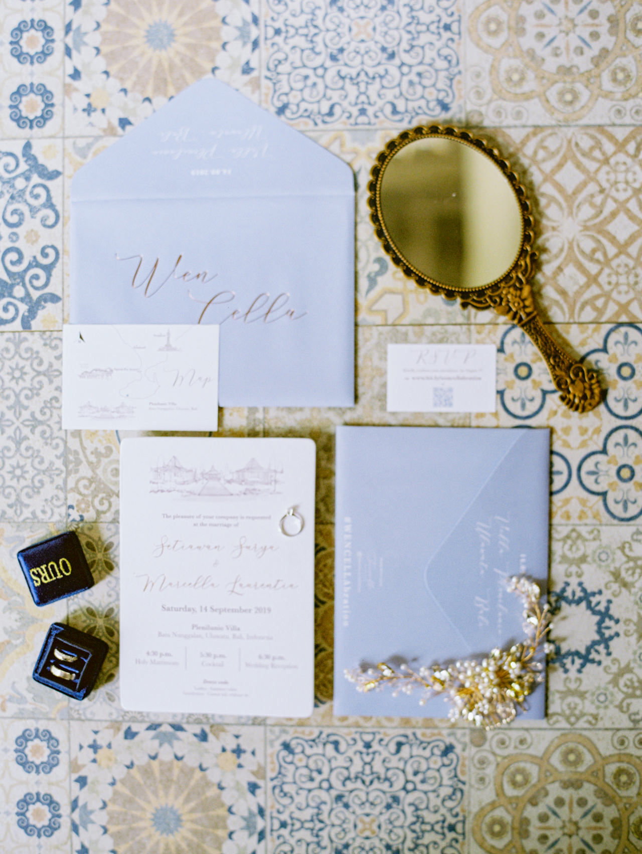 M&S: Shades of Blue Villa Plenilunio Bali Wedding 3