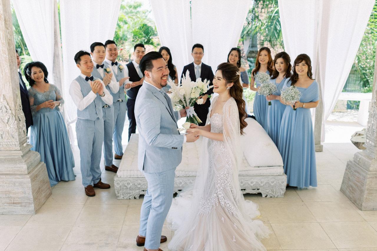 M&S: Shades of Blue Villa Plenilunio Bali Wedding 30