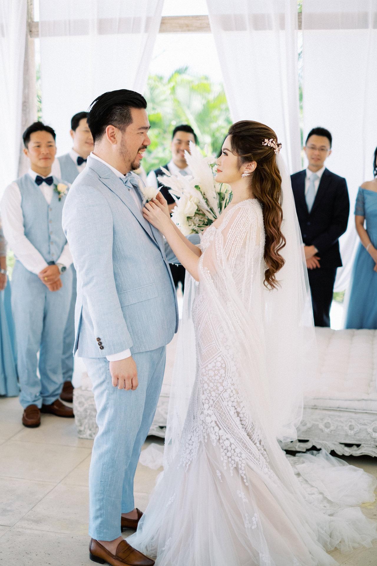 M&S: Shades of Blue Villa Plenilunio Bali Wedding 31