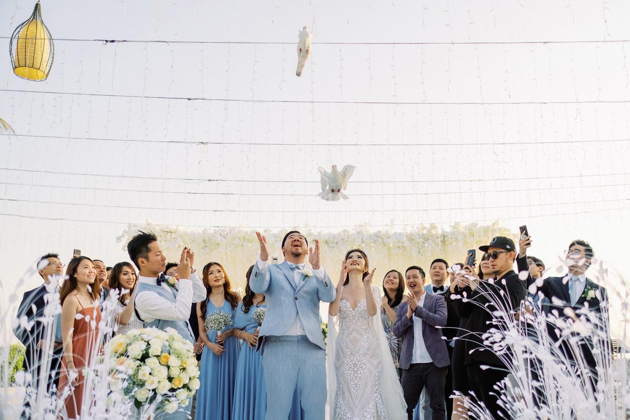 M&S: Shades of Blue Villa Plenilunio Bali Wedding 70