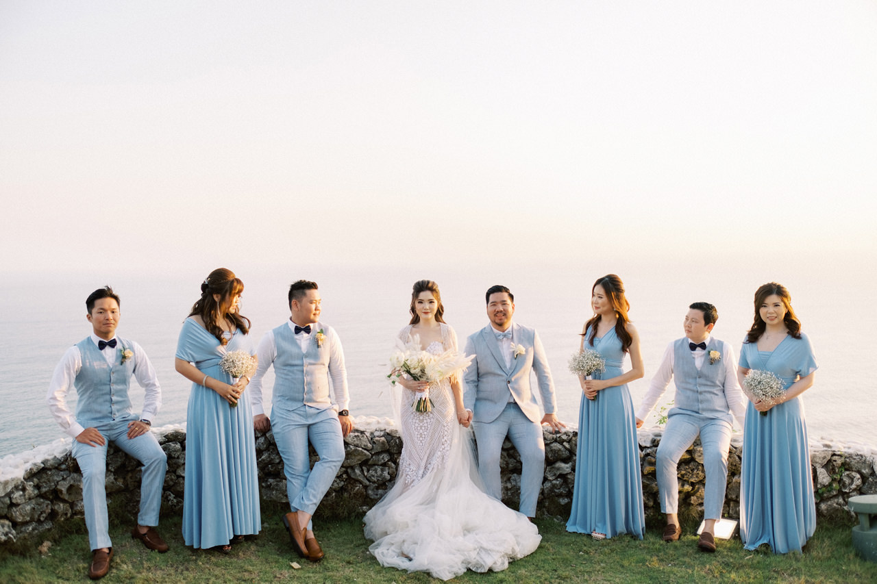 M&S: Shades of Blue Villa Plenilunio Bali Wedding 77