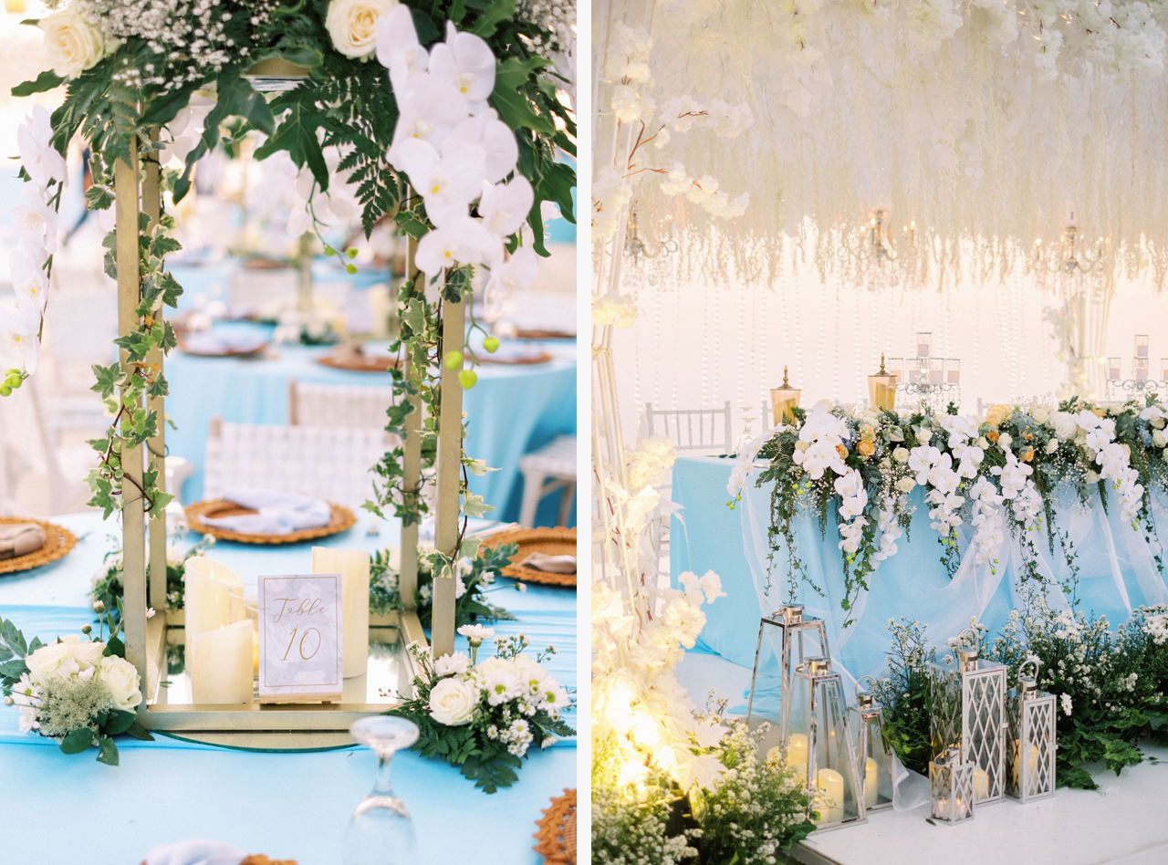 Blue Bali Wedding Decoration