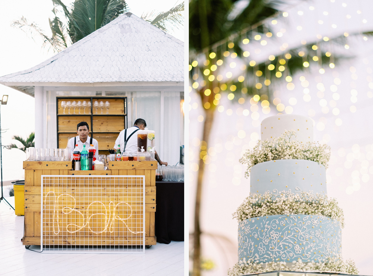 Bali Wedding Cocktail Bar and Bali Wedding Cake
