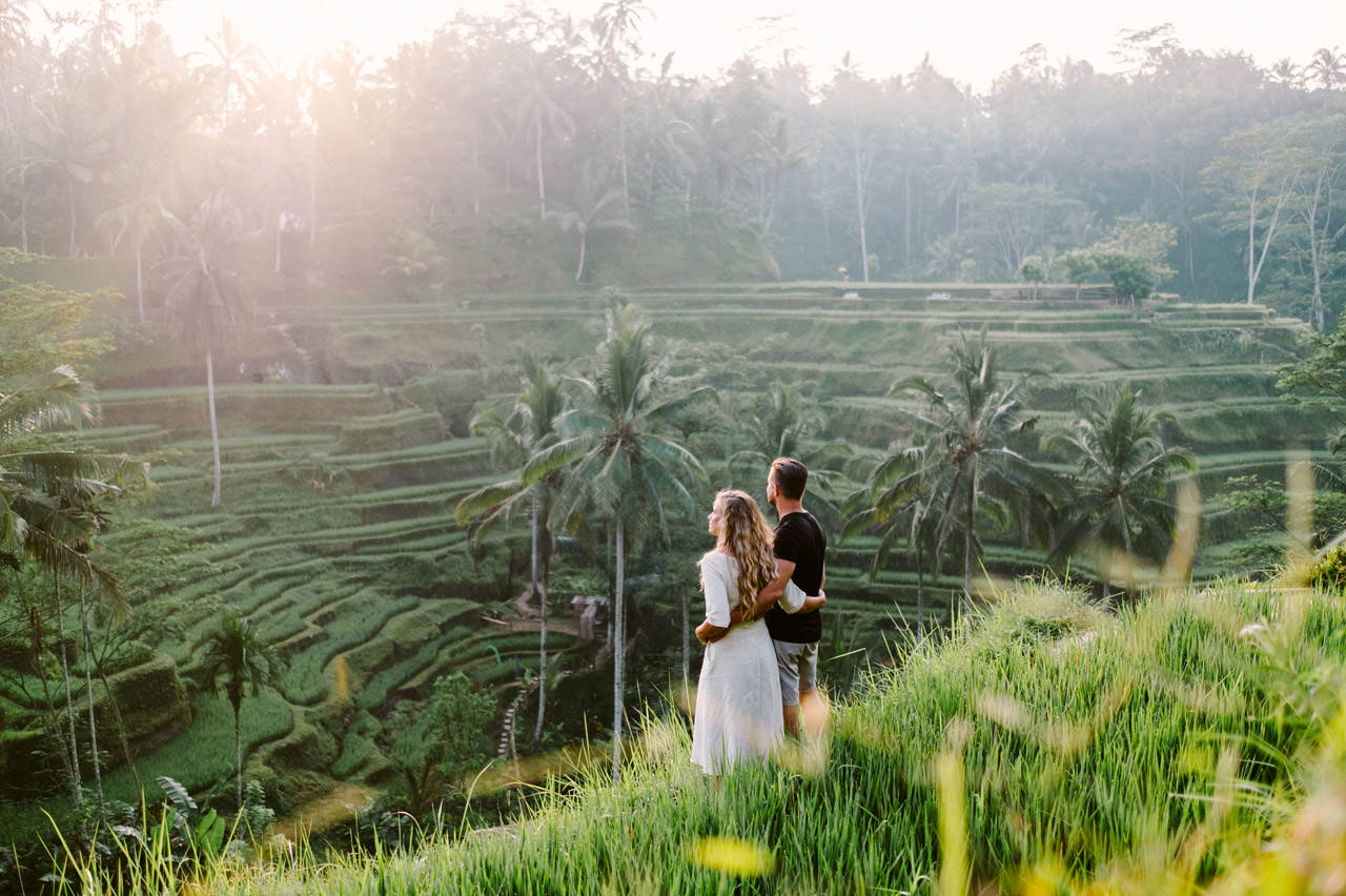 Natelee & Barry: Tegalalang Rice Terrace Honeymoon Photography 1