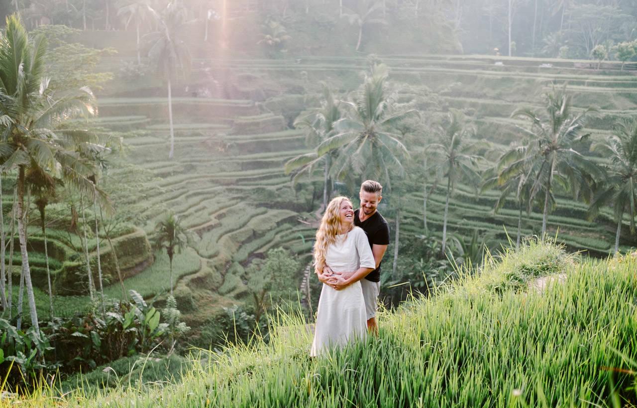 Natelee & Barry: Tegalalang Rice Terrace Honeymoon Photography 2
