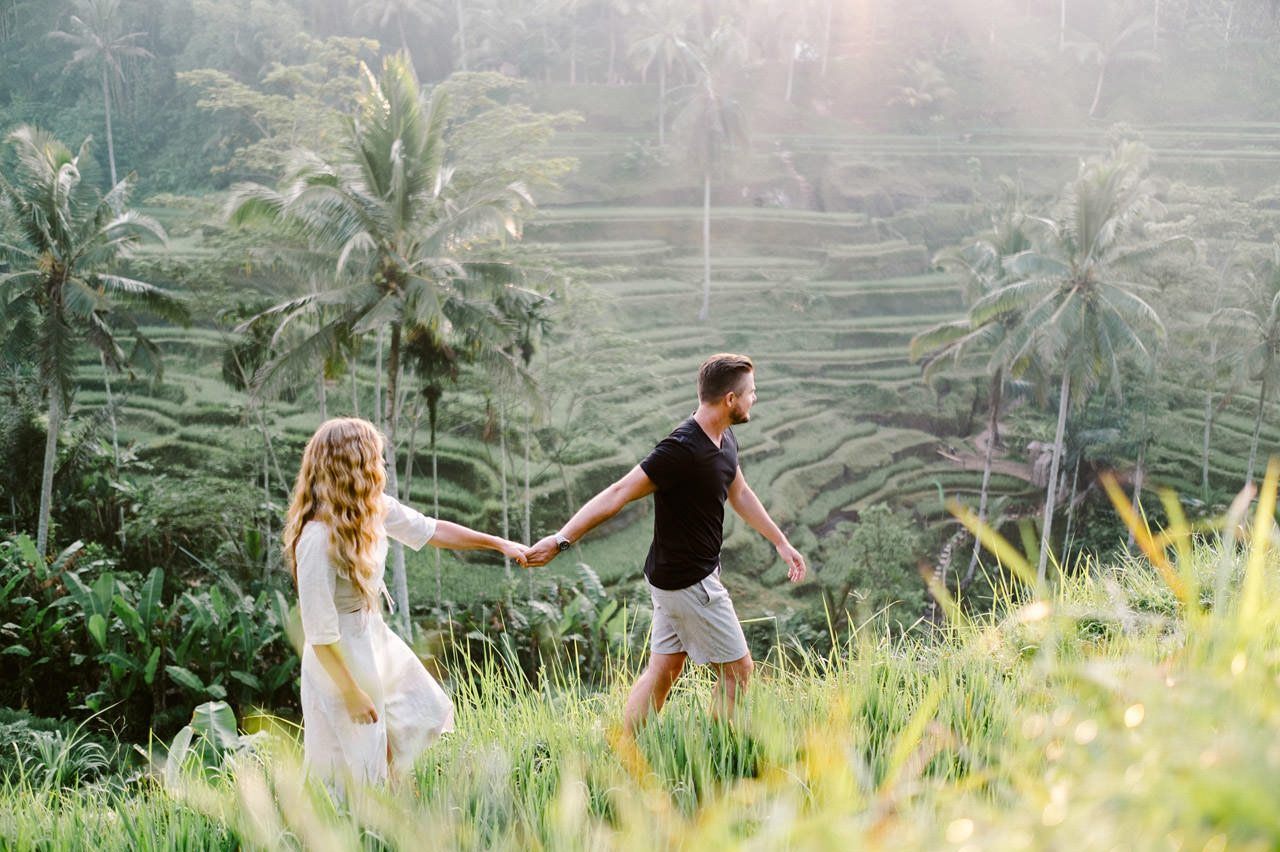 Natelee & Barry: Tegalalang Rice Terrace Honeymoon Photography 3