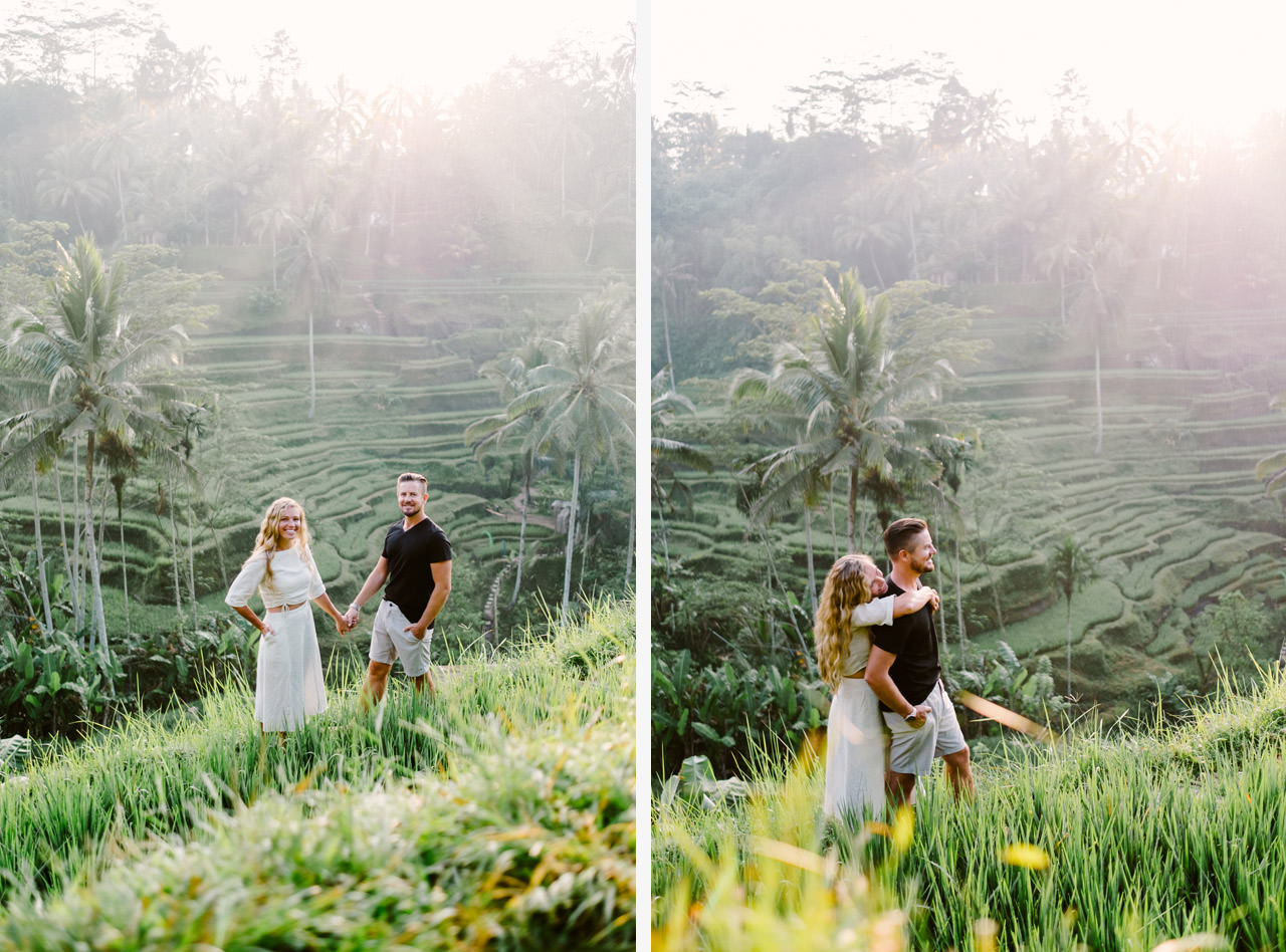 Natelee & Barry: Tegalalang Rice Terrace Honeymoon Photography 4