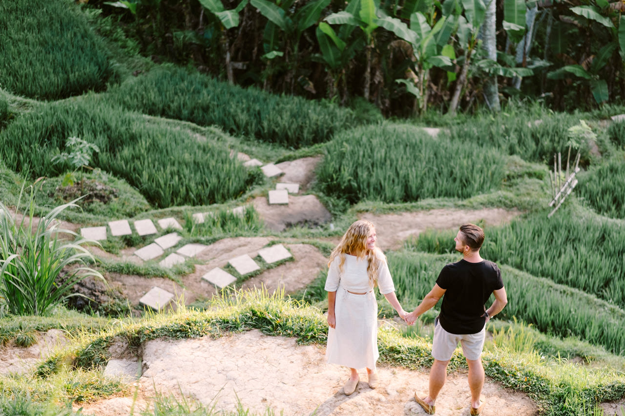 Natelee & Barry: Tegalalang Rice Terrace Honeymoon Photography 6