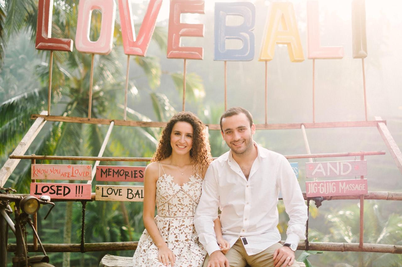 Nazli & Orhan: Honeymoon Photography in Ubud Bali 1