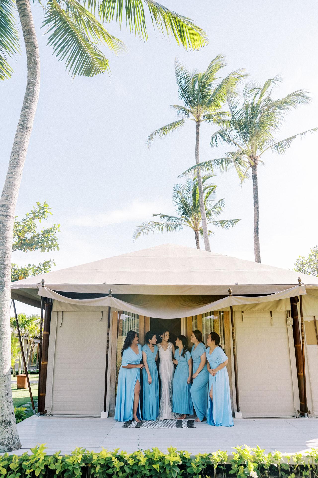 Bali Beach Glamping Wedding on a Luxury Tent 12