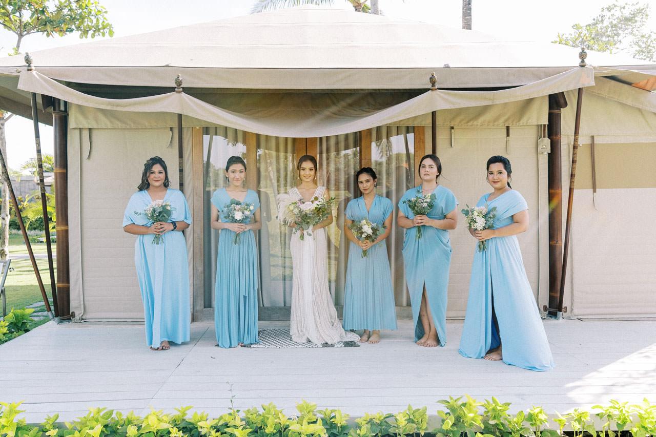 Bali Beach Glamping Wedding on a Luxury Tent 14