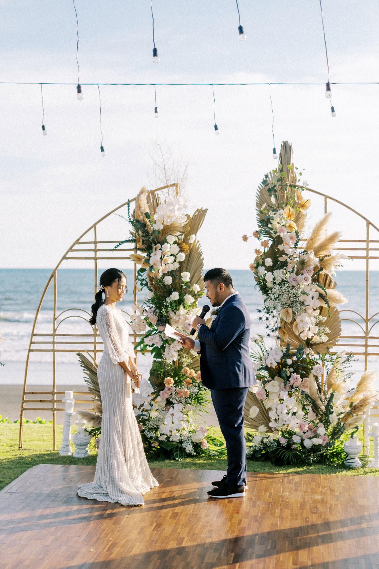 Bali Beach Glamping Wedding on a Luxury Tent 30