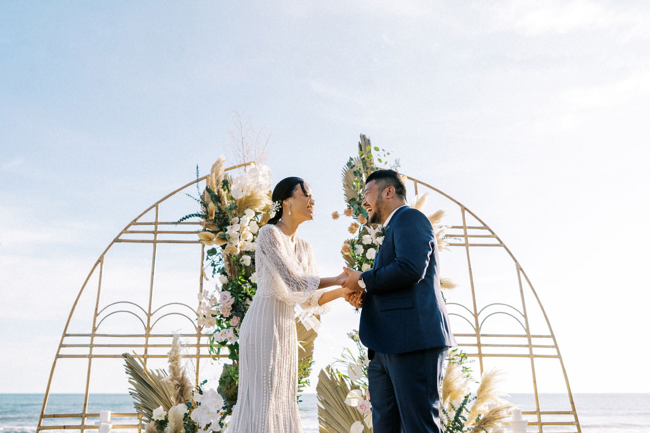 Bali Beach Glamping Wedding on a Luxury Tent 33
