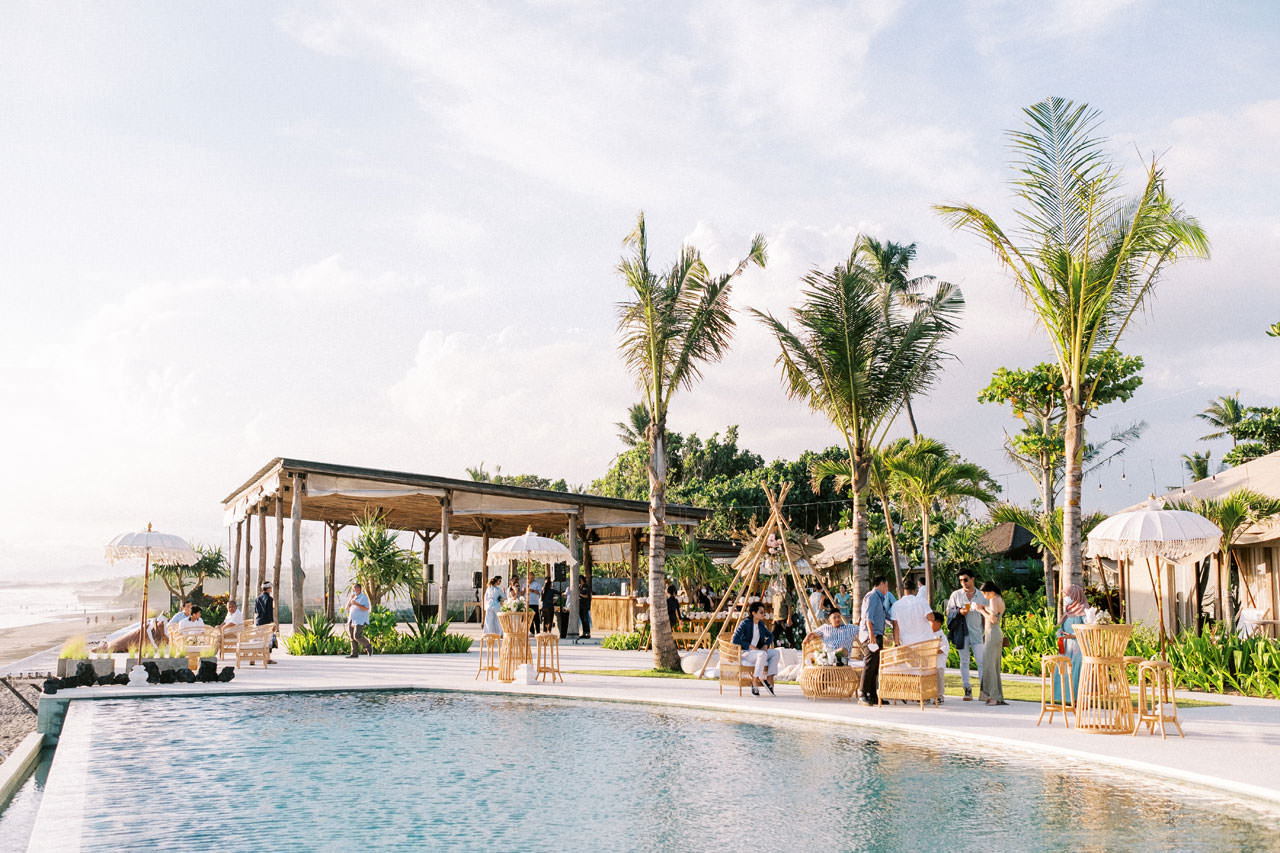 Bali Beach Glamping Wedding on a Luxury Tent 38