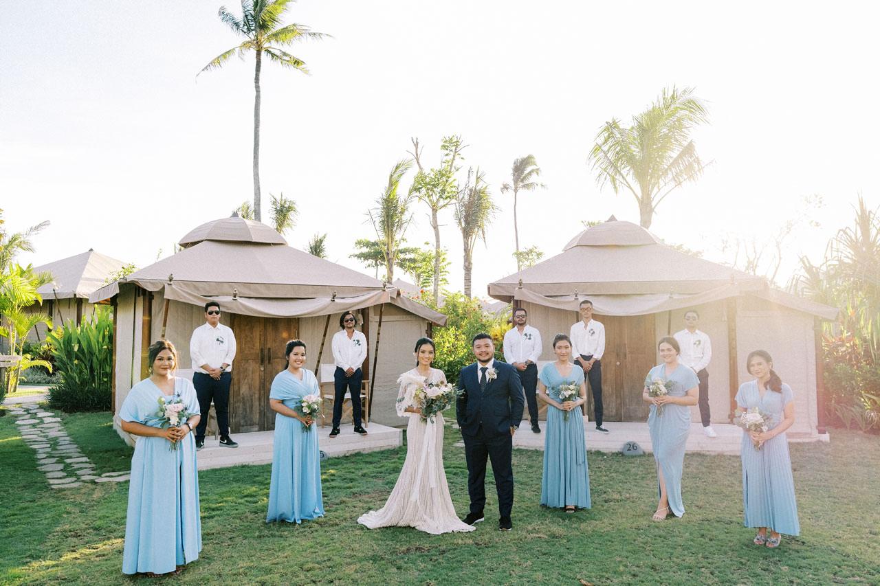 Bali Beach Glamping Wedding on a Luxury Tent 39