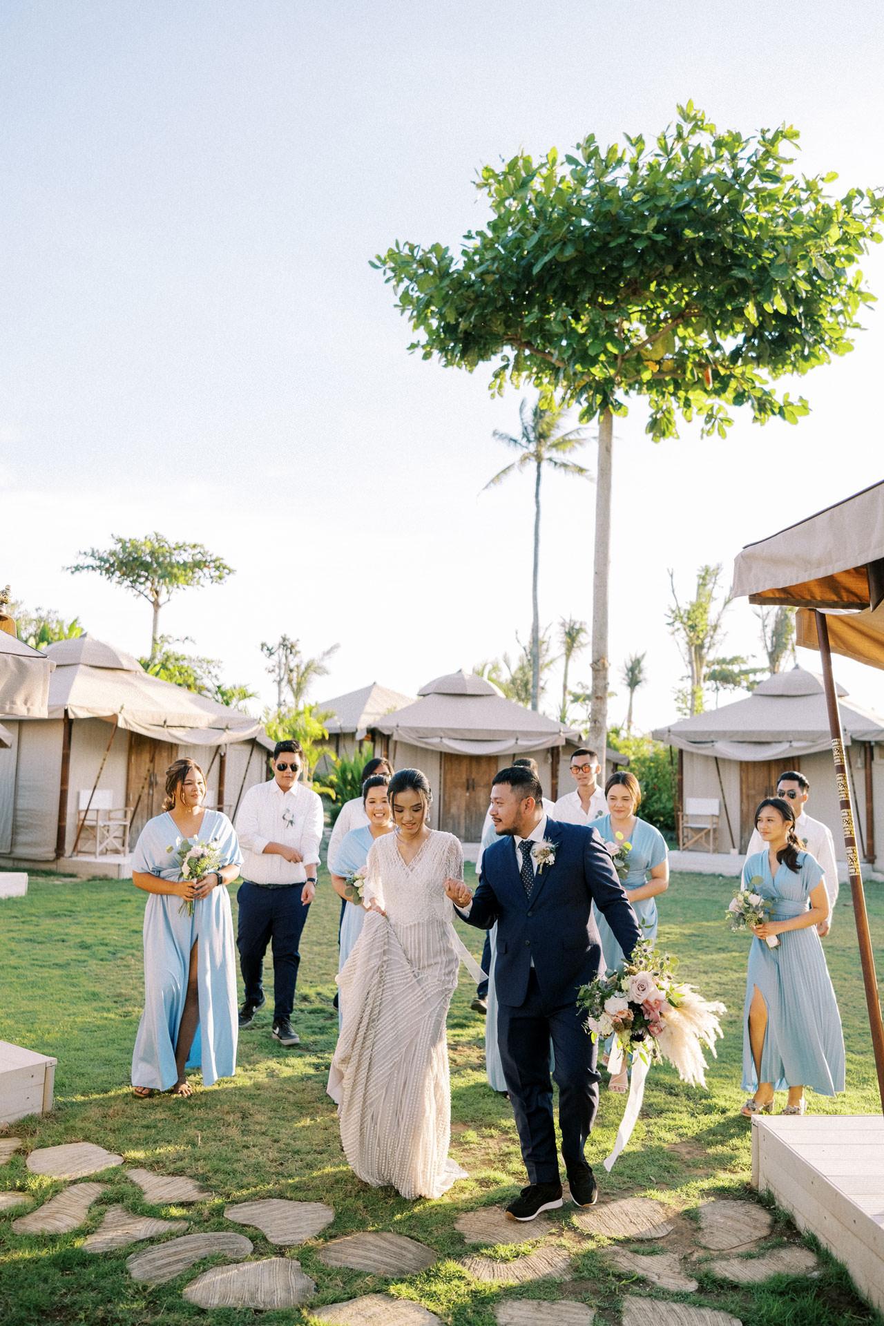 Bali Beach Glamping Wedding on a Luxury Tent 41