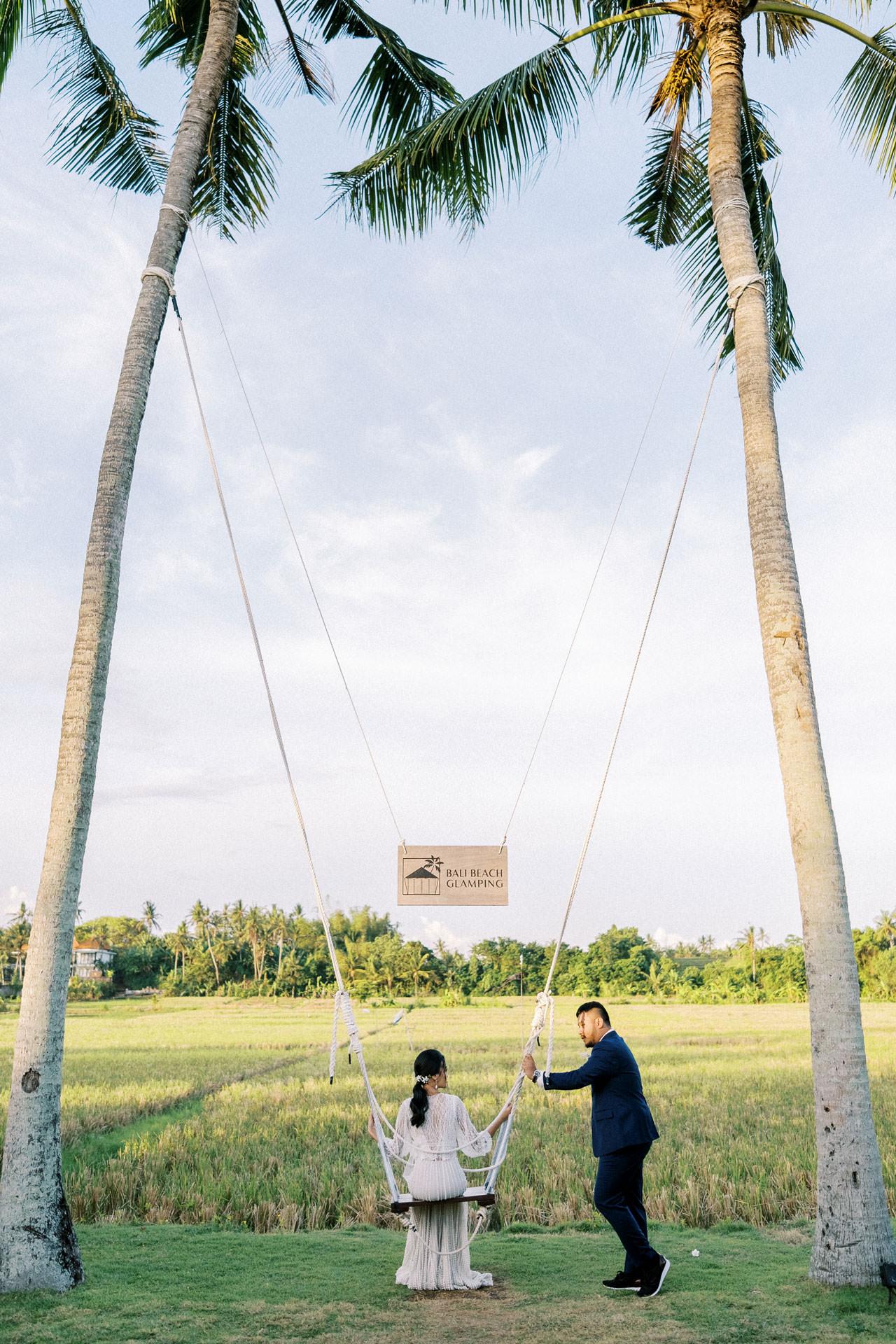 Bali Beach Glamping Wedding on a Luxury Tent 42