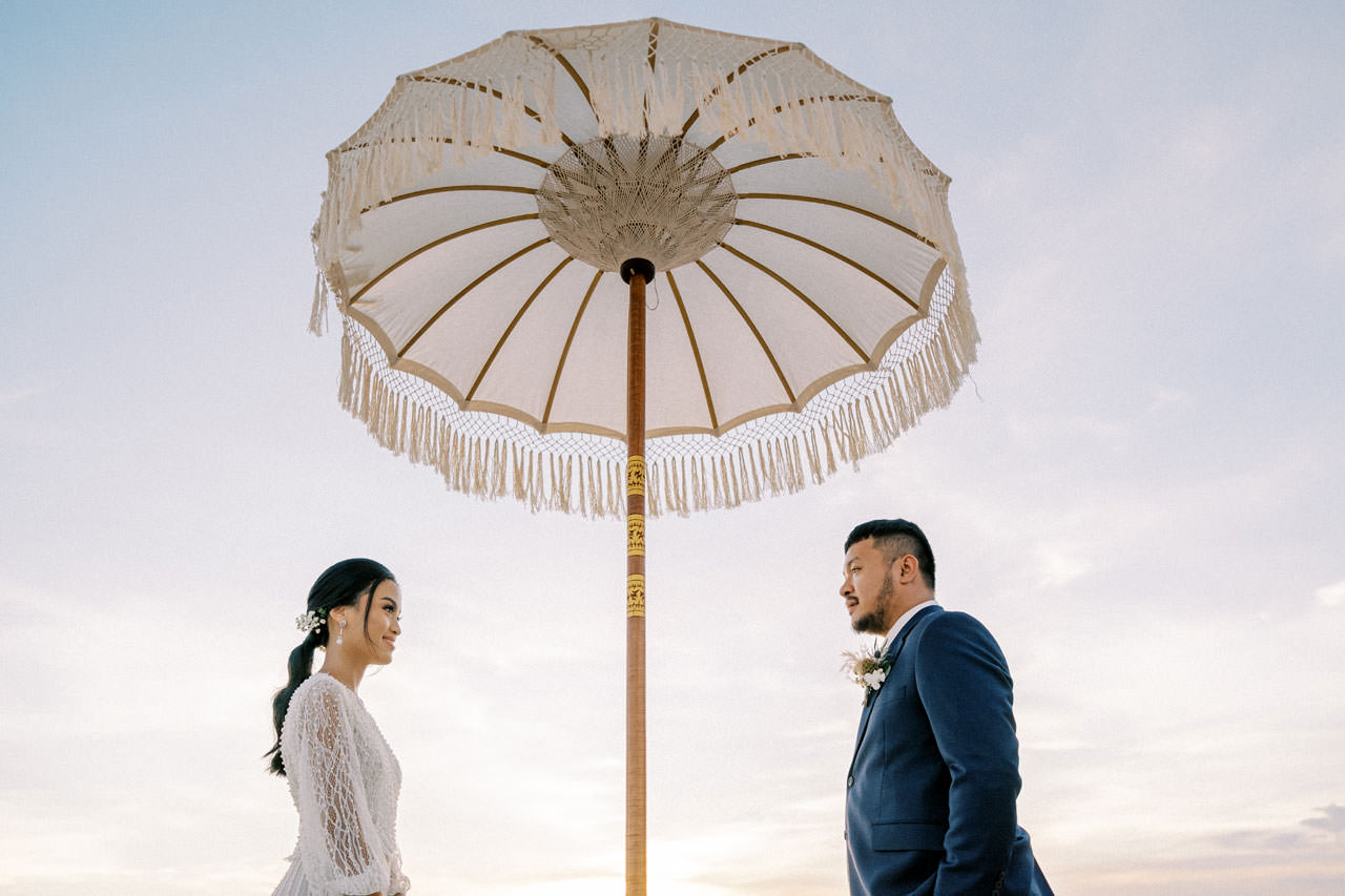 Bali Beach Glamping Wedding on a Luxury Tent 54