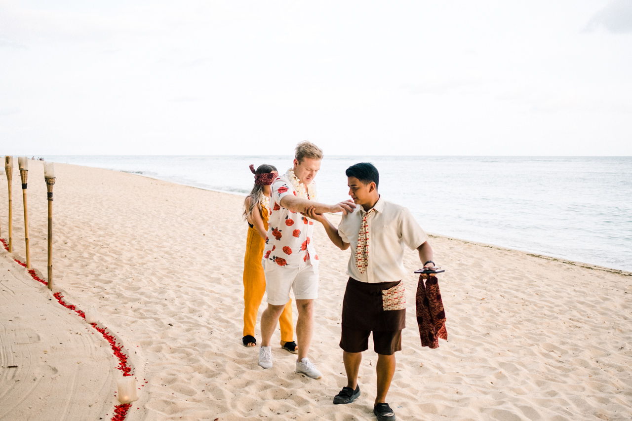 Surprise Proposal Dinner on Bali Beach at Samabe 3