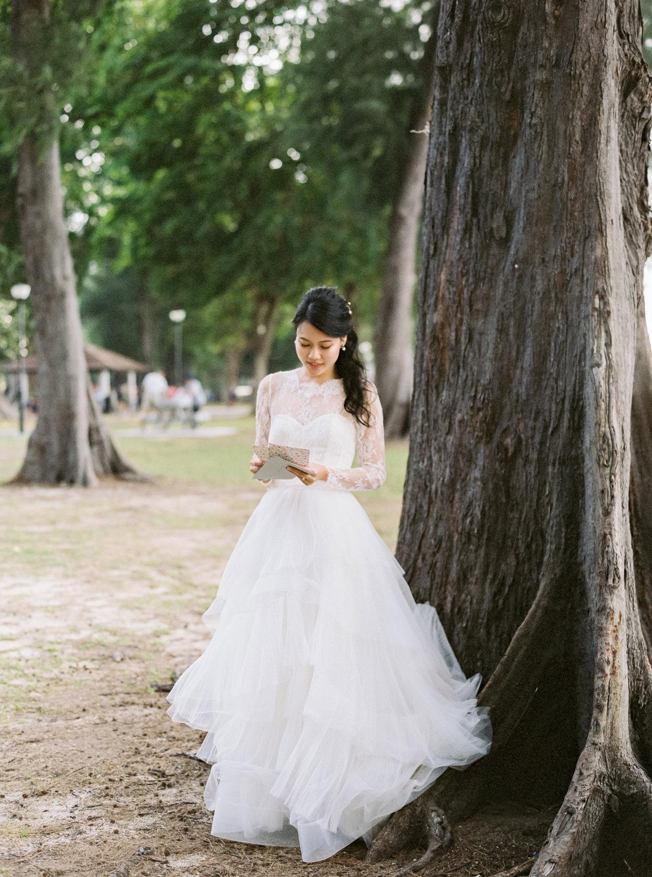 Elegant Raffles Hotel Singapore Wedding 3