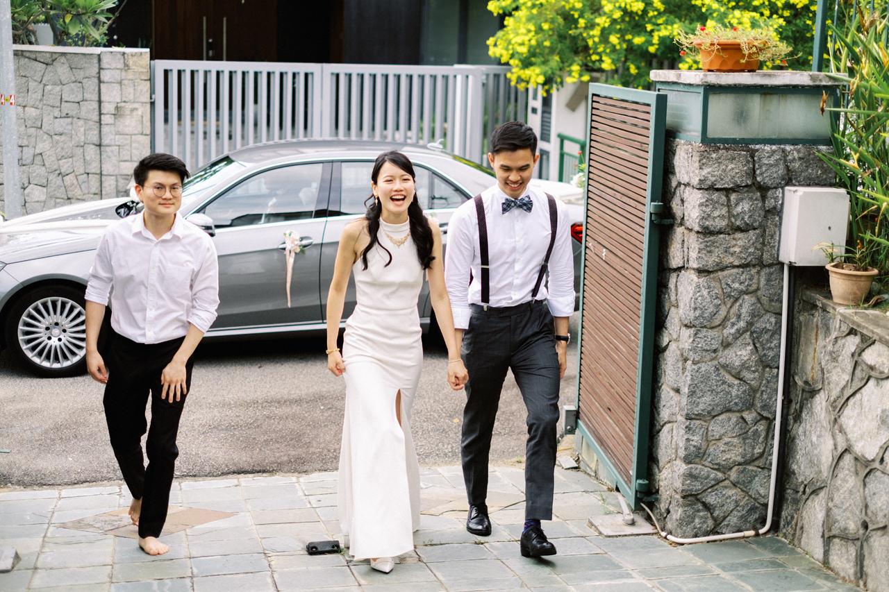Elegant Raffles Hotel Singapore Wedding 14
