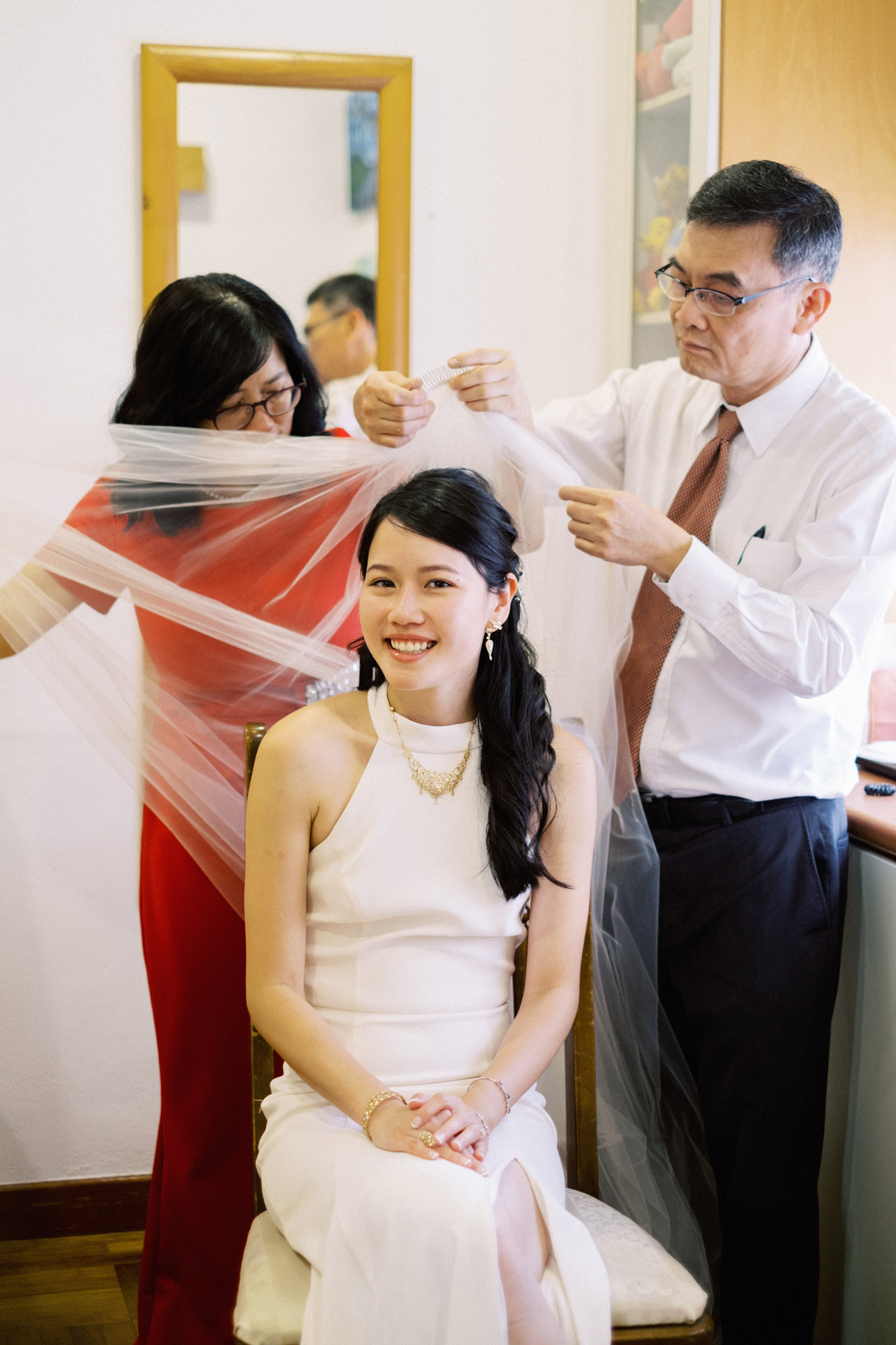 Elegant Raffles Hotel Singapore Wedding 18