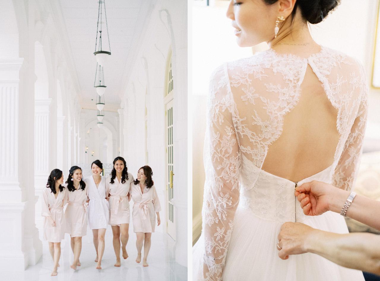 Elegant Raffles Hotel Singapore Wedding 27