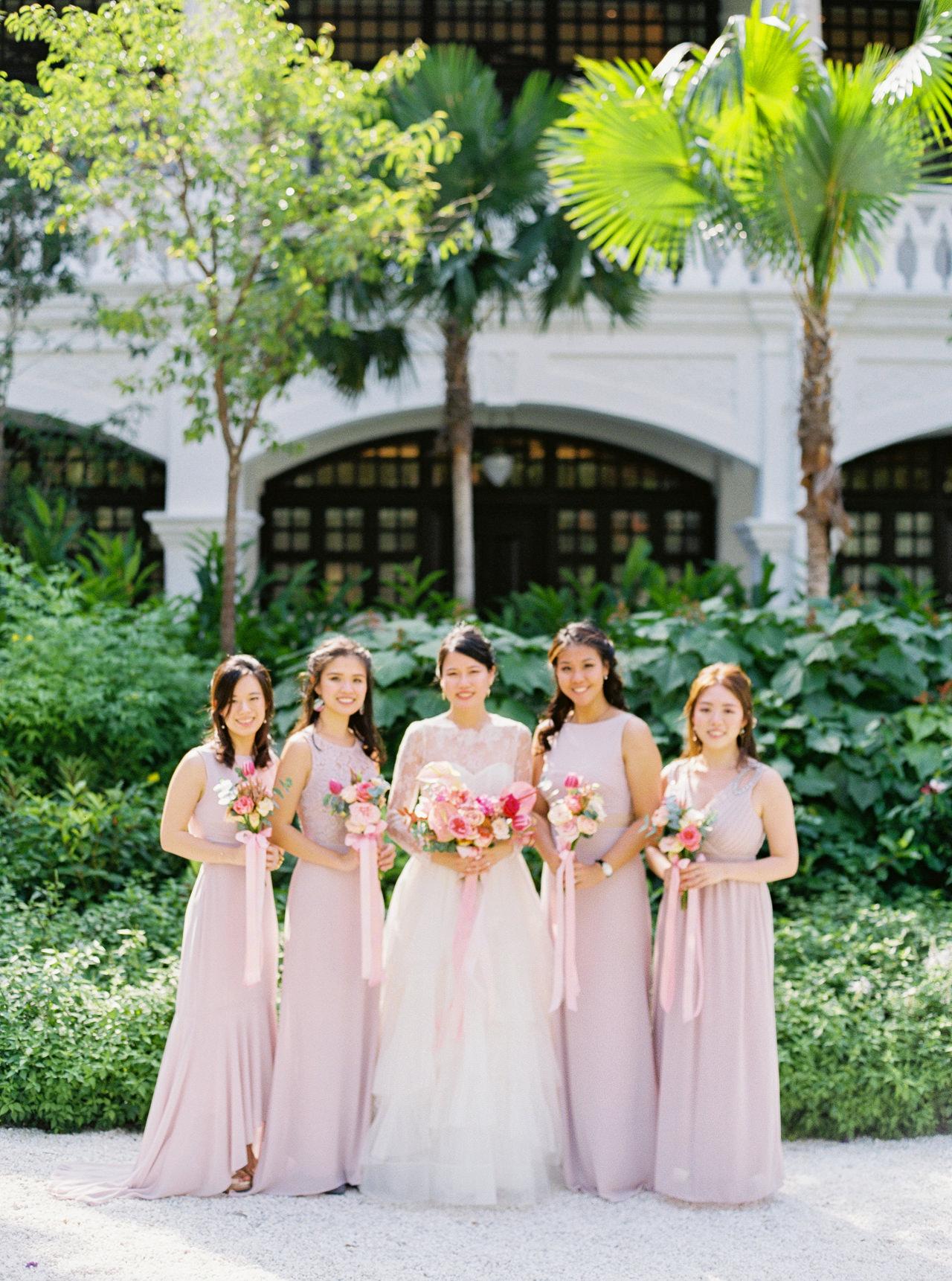 Elegant Raffles Hotel Singapore Wedding 31