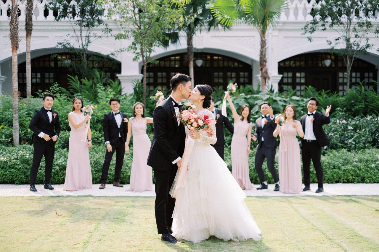 Elegant Raffles Hotel Singapore Wedding 33