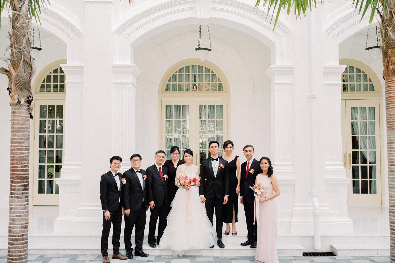 Elegant Raffles Hotel Singapore Wedding 34